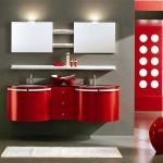 Kırmızı dekoratif dolap modeli