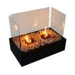 Kahverengi Camlı Dekoratif gaz lambası