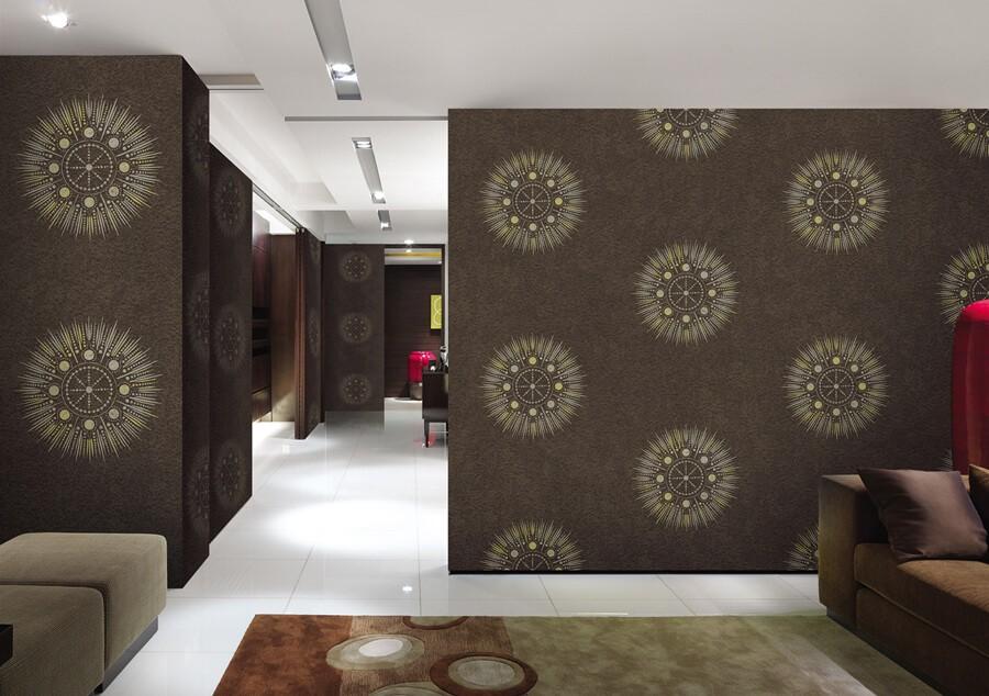 Kahverengi Dekoratif Duvar Kağıdı