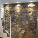 Karışık Turuncu Dekoratif İç Cephe Taş Duvar Kaplama