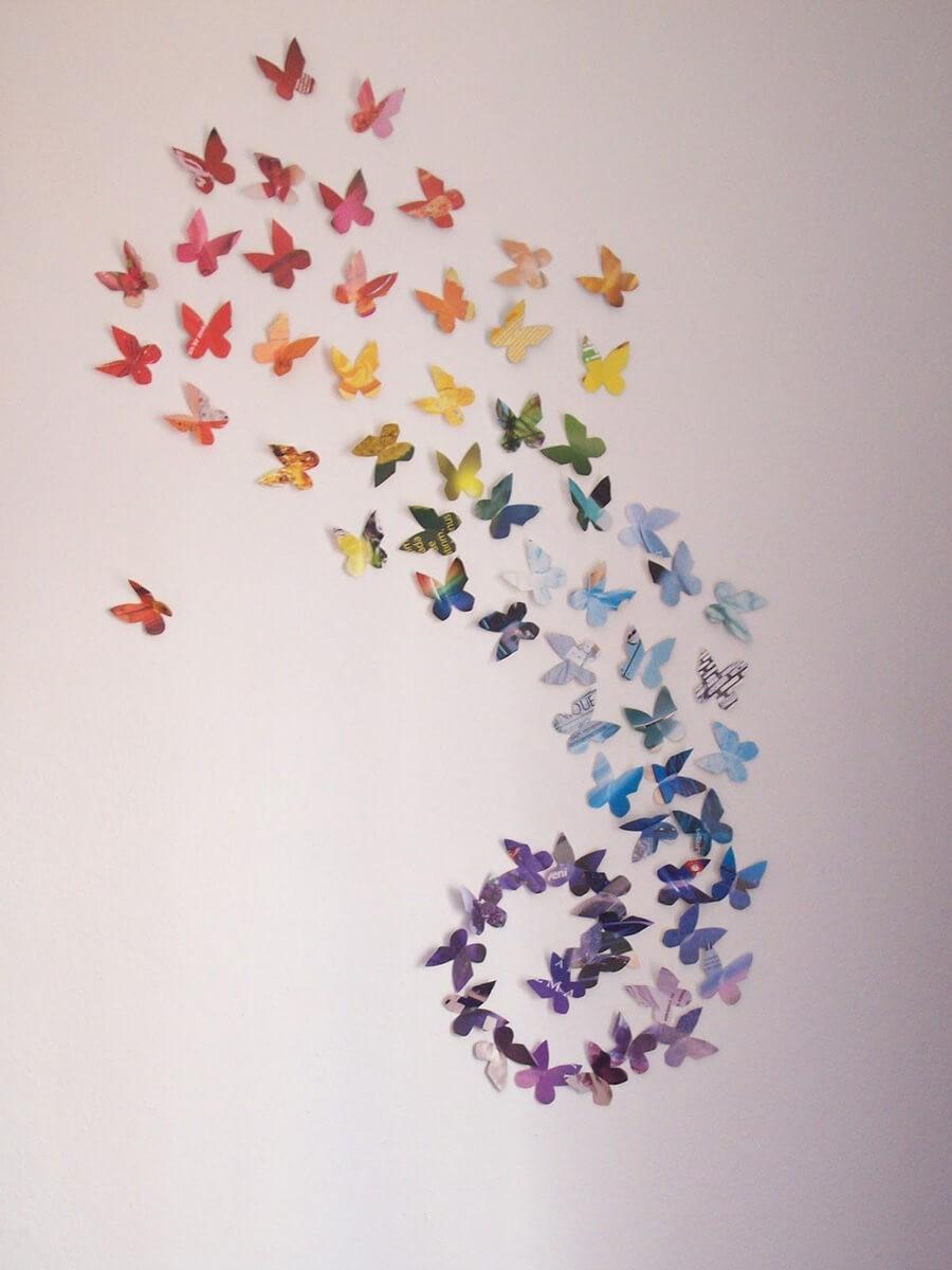 Kelebekler 3 boyutlu Dekoratif Duvar Süsü