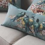 Kuşlu Dekoratif Yastık Modelleri