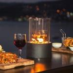Metal ve Cam Kaplama Romantik Dekoratif gaz lambası