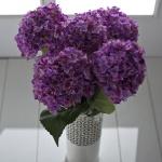 Mor dekoratif yapay çiçek modeli