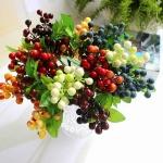 Rengarenk dekoratif yapay çiçek modeli