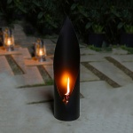 Siyah Romantik Dekoratif gaz lambası