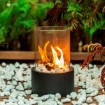 Siyah ve Cam Romantik Dekoratif gaz lambası