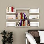 Beyaz Dekoratif Kitaplık Raf Modelleri