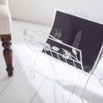 Beyaz Metal Dekoratif Dergi ve Gazetelik Modelleri