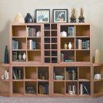 Kahverengi Ahşap Dekoratif Kitaplık Raf Modelleri