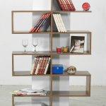 Kahverengi Beyaz Dekoratif Kitaplık Raf Modelleri