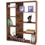 Kahverengi Dekoratif Kitaplık Raf Modelleri 2