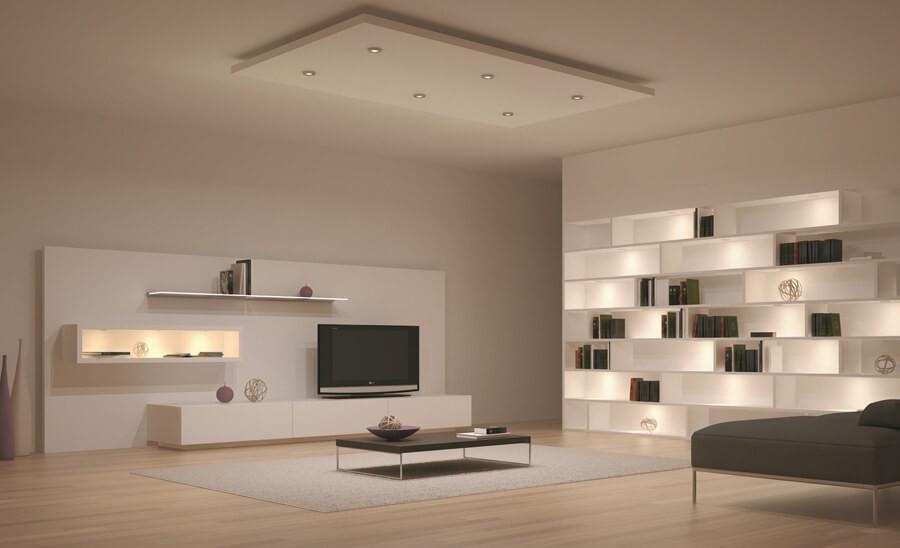Oturma Odası Dekoratif Led Aydınlatma Modeli