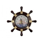 Siyah Saat Dekoratif Gemi Dümeni
