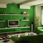 Yeşil Tonlarda japon tarzı evdekorasyonu