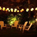 Bahçe Masa ve Sandalye takımı aydınlatma