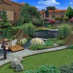 Bahçe Yolu Dekorasyonu 7