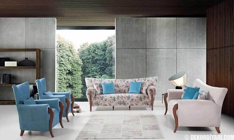 mavi-renk-avangard-mobilya-modeli