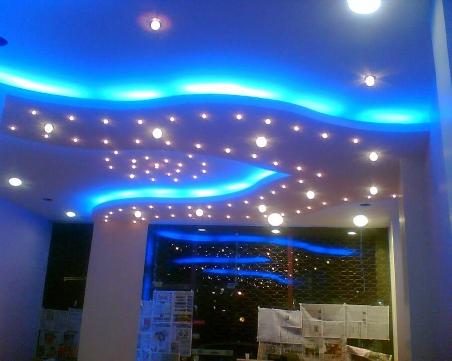 mavi-yildizli-tavan-dekorasyon