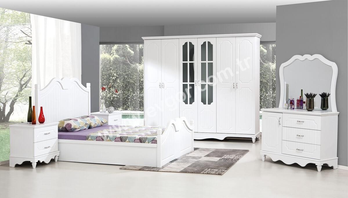 Beyaz Renk Yatak Odasi Takimi