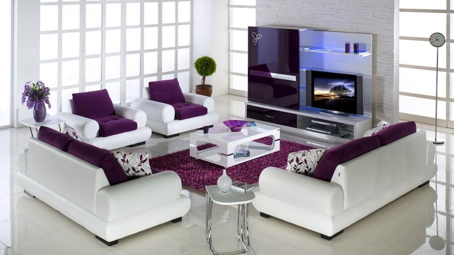 mor-ve-beyaz-renk-mobilya-dekorasyonu