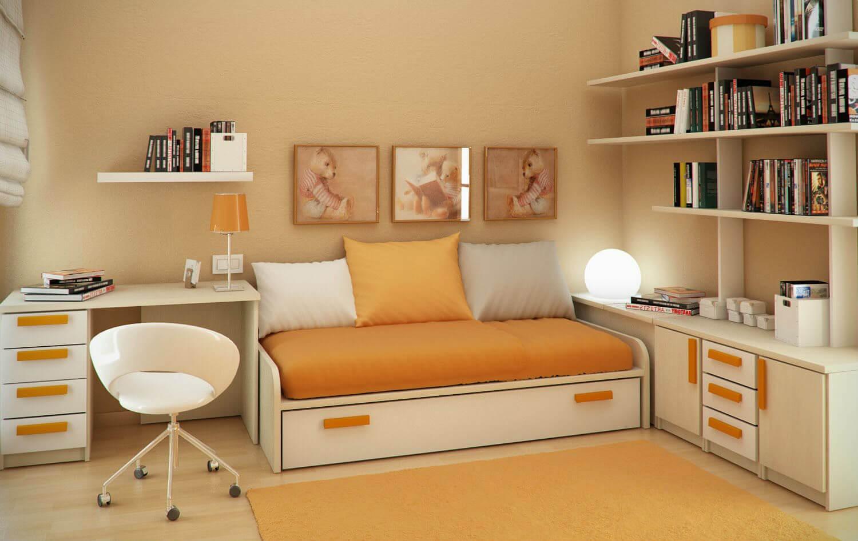 turuncu-renk-calisma-odasi