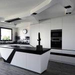 Siyah Beyaz Mutfak Dekorasyonu 6