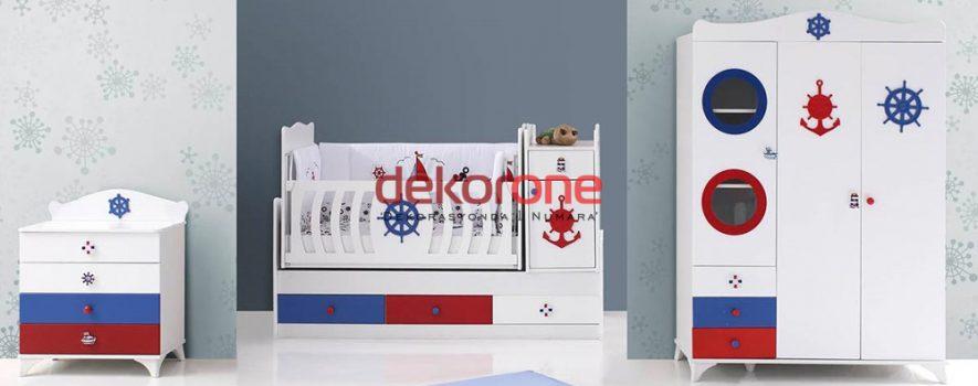 Denizci Motifleri Erkek Bebek Odası Dekorasyonu