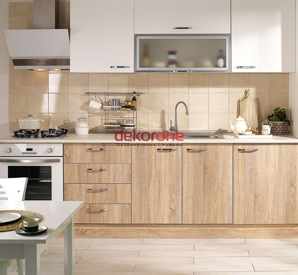 Kahverengi 2018 Mutfak Dolabı Modeli