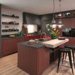 Kahverengi Ahşap 2018 Amerika Mutfak Modelleri
