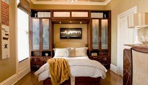 Kahverengi Ahşap Küçük Yatak Odası Takımı