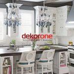 Klasik Beyaz Renk 2018 Lüks Mutfak Dekorasyonu Modelleri