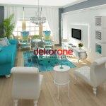 Mavi ve Beyaz Renk Dekorasyon