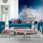 Mavi ve Pembe Renk Dekorasyon
