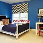 Mavi ve Siyah Renk Dekorasyon