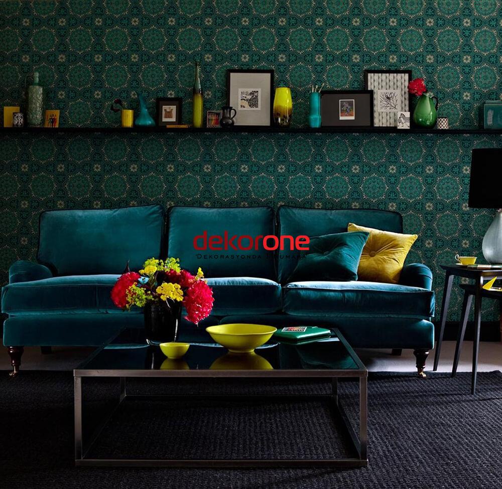 Mavi ve Yeşil Renk Dekorasyon