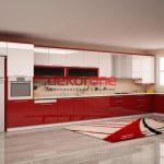Parlak Kırmızı 2018 Mutfak Dolabı Modeli