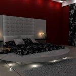 Siyah Beyaz Yuvarlak Yatak Modelleri