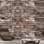 Taş Desenli Duvar Kağıdı 3D - 4