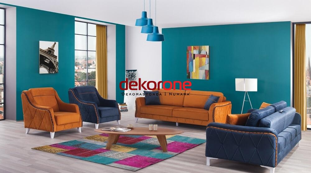 Turuncu ve Mavi Renk Dekorasyon