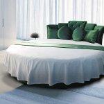 Yeşil Beyaz Yuvarlak Yatak Modelleri