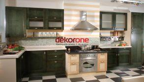 Yeşil ve Kahverengi 2018 Lüks Mutfak Dekorasyonu Modelleri