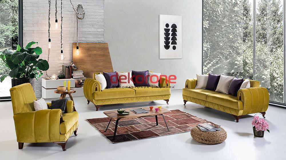 Hardal Sarısı Rengi Koltuk Takımları 2