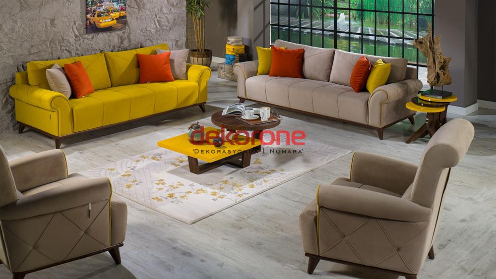 Hardal Sarısı Rengi Koltuk Takımları 5