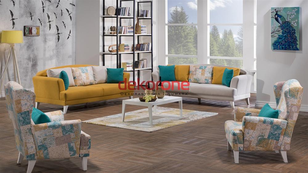 Hardal Sarısı Rengi Koltuk Takımları 6