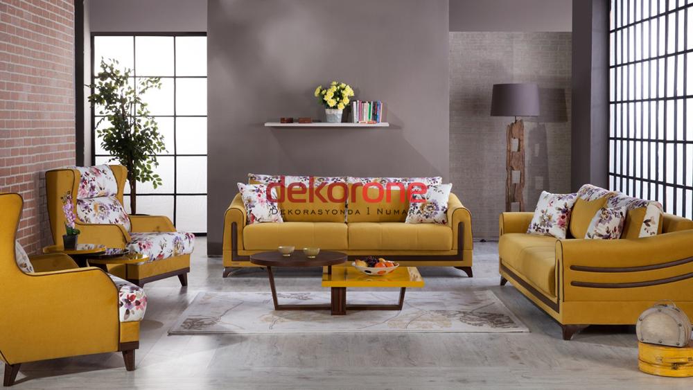 Hardal Sarısı Rengi Koltuk Takımları 7
