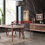 Kahverengi Enza Yemek Odası Modeli