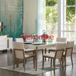 Krem Enza Yemek Odası Modeli