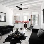 Siyah Beyaz Salon Dekorasyonu Fikirleri ve Modelleri 3