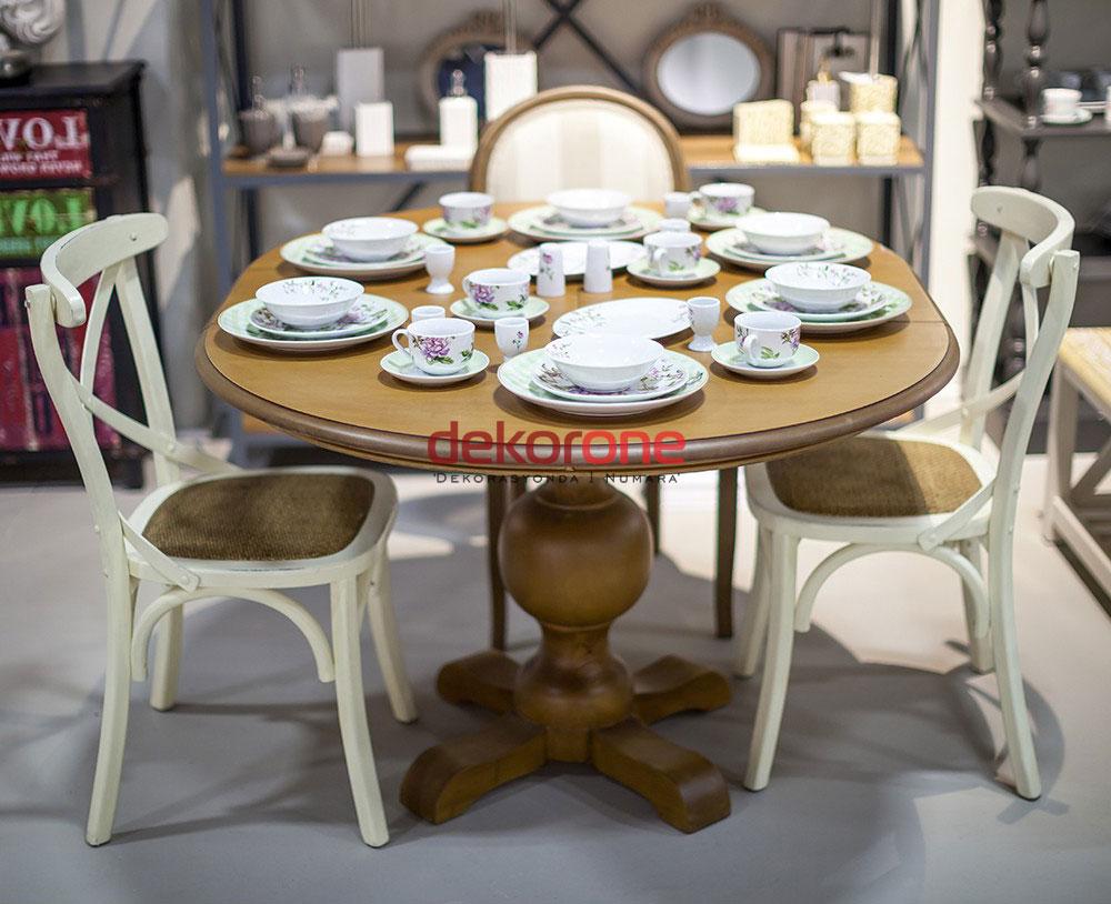 Yuvarlak Ahşap Yemek Masası Modelleri 1